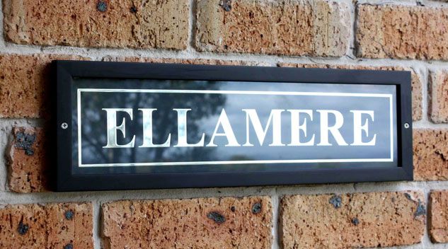 Black Timber & Glass Signs