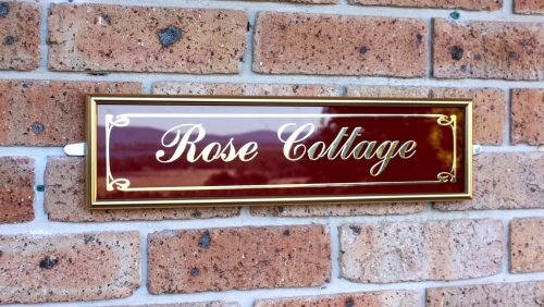 Decorative Name Plates For Home: Gold Aluminium And Glass Order Form