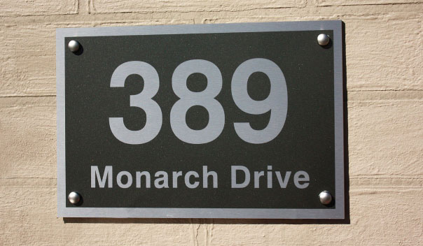 Aluminium Address Signs