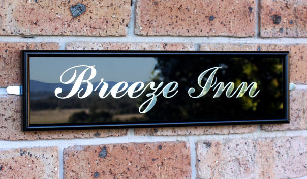 Black Aluminium & Glass Signs