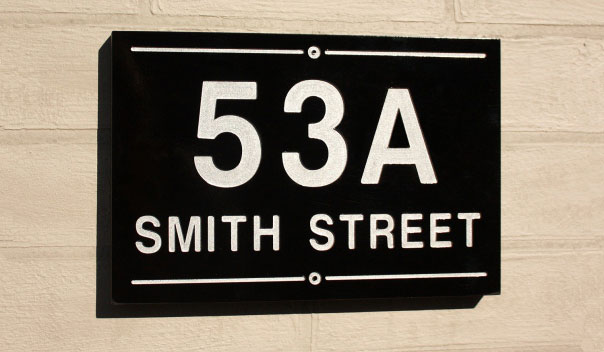 Painted Address Signs