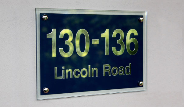 Polished Glass Address Signs