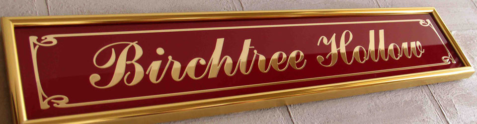 Gold Aluminium & Glass Signs